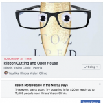 Illinois Vision Clinic Facebook Ad